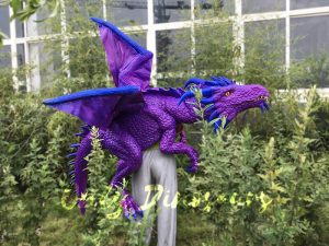 Purple Shoulder Dragon Puppet of Wizard
