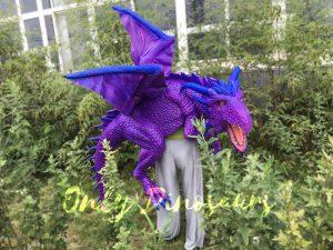 Purple Shoulder Dragon Puppet of Wizard