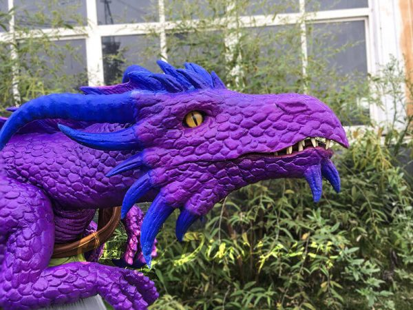 Purple Shoulder Dragon Puppet of Wizard3