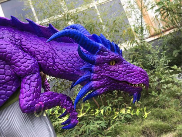 Purple Shoulder Dragon Puppet of Wizard4