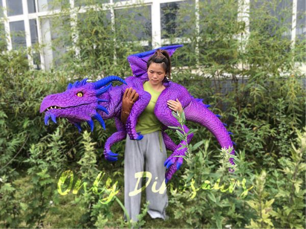 Purple Shoulder Dragon Puppet of Wizard6