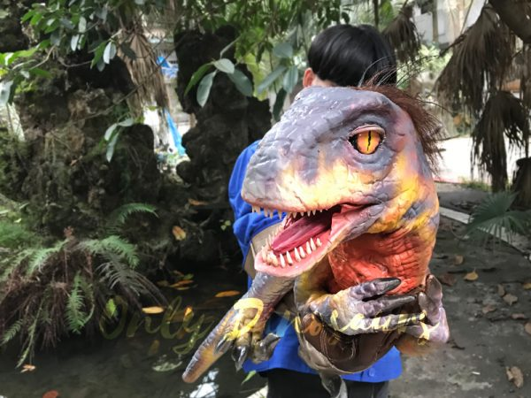 Raptor-Dinosaur-Glove-Puppet-Feathered-Puppet