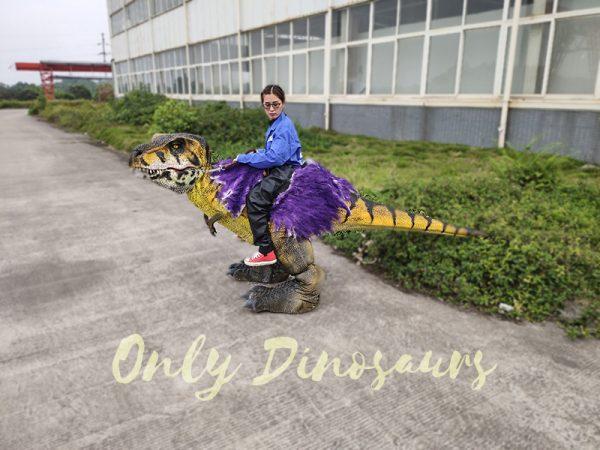 Realistic Child Dinosaur Ride On Costume3