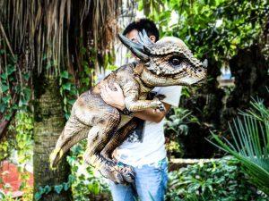 Realistic Dinosaur Stygimoloch Puppet Jurassic World
