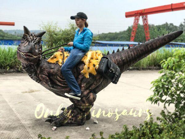 Realistic Riding Carnotaurus Costume On Stilts1