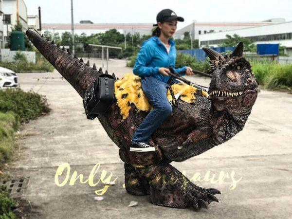 Realistic Riding Carnotaurus Costume On Stilts5