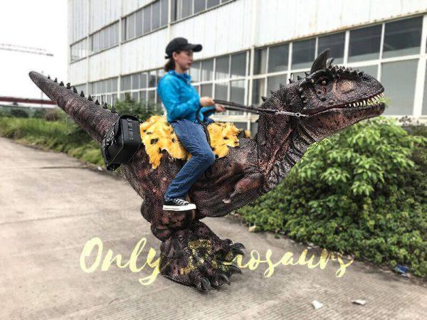 Realistic Riding Carnotaurus Costume On Stilts6