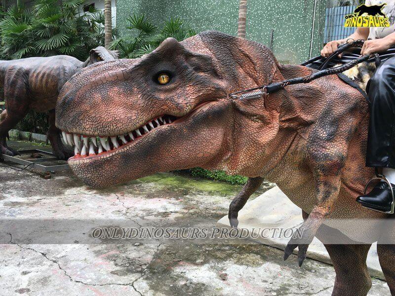 Realistic Riding T Rex Costume 2