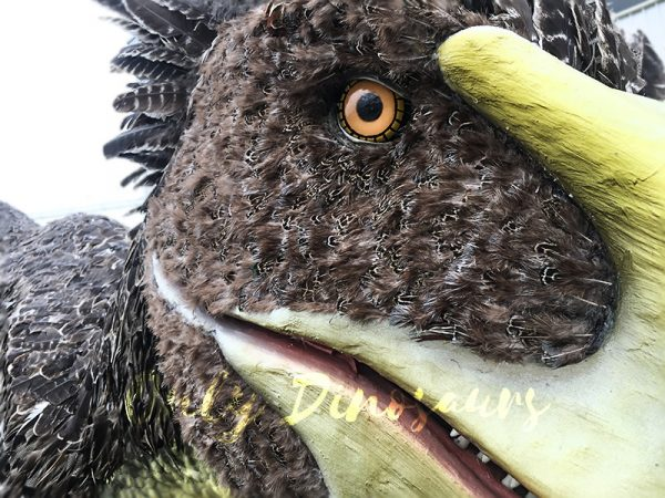 Realistic Velociraptor Costume with Feathers 5
