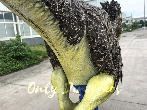 Realistic Velociraptor Costume with Feathers 6