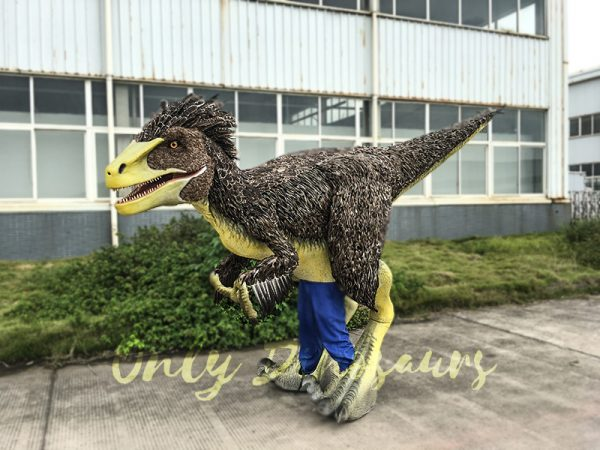 Realistic Velociraptor Costume with Feathers 7