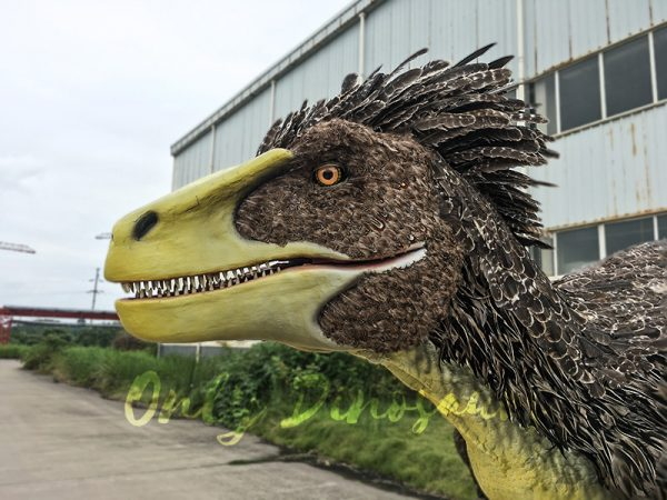 Realistic Velociraptor Costume with Feathers1