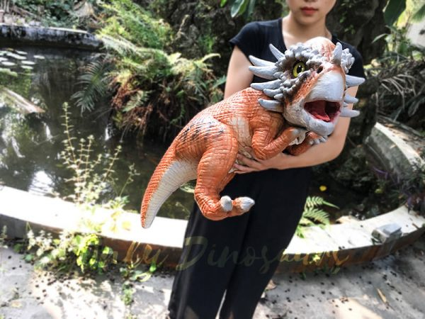 Small Stygimoloch Baby Puppet Orange2