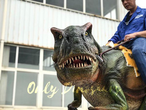 T rex Dinosaur Rider Costume on Stilts1