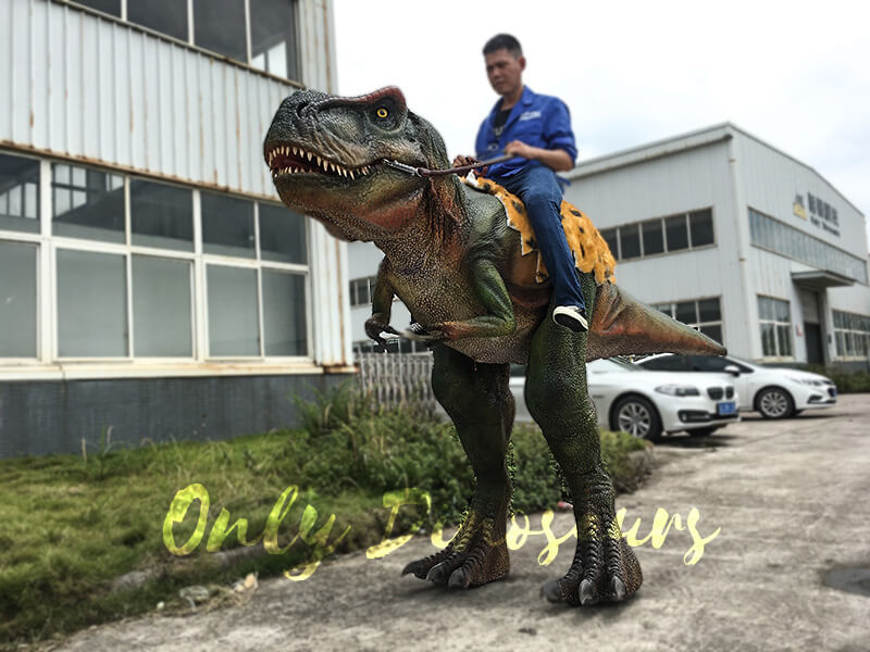 T rex Dinosaur Rider Costume on Stilts2