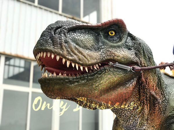 T rex Dinosaur Rider Costume on Stilts5