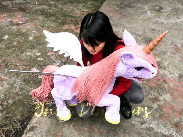 Unicorn Animal Puppet Lovely Pink4
