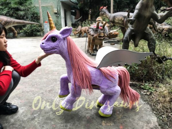 Unicorn Animal Puppet Lovely Pink5