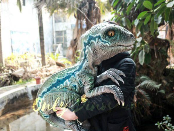 Velociraptor Baby Hand Puppet Lifelike Puppet2