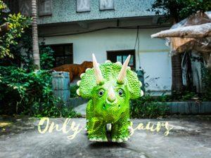 Vivid Green Triceratops Dinosaur Scooter