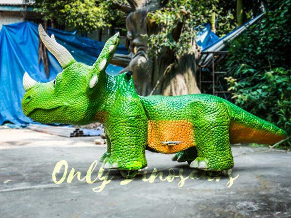 Vivid Green Triceratops Dinosaur Scooter3