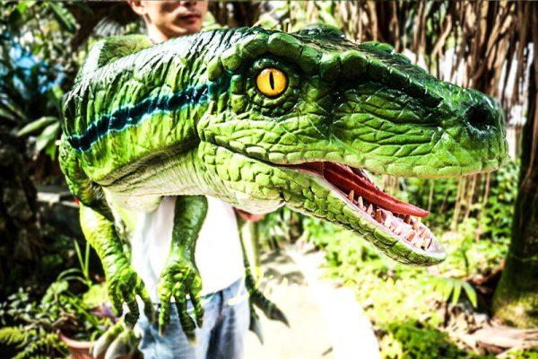 Vivid Raptor Shoulder Puppet Jurassic World Dinosaur2