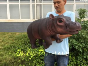 Realistic Baby Hippo Puppet for kids