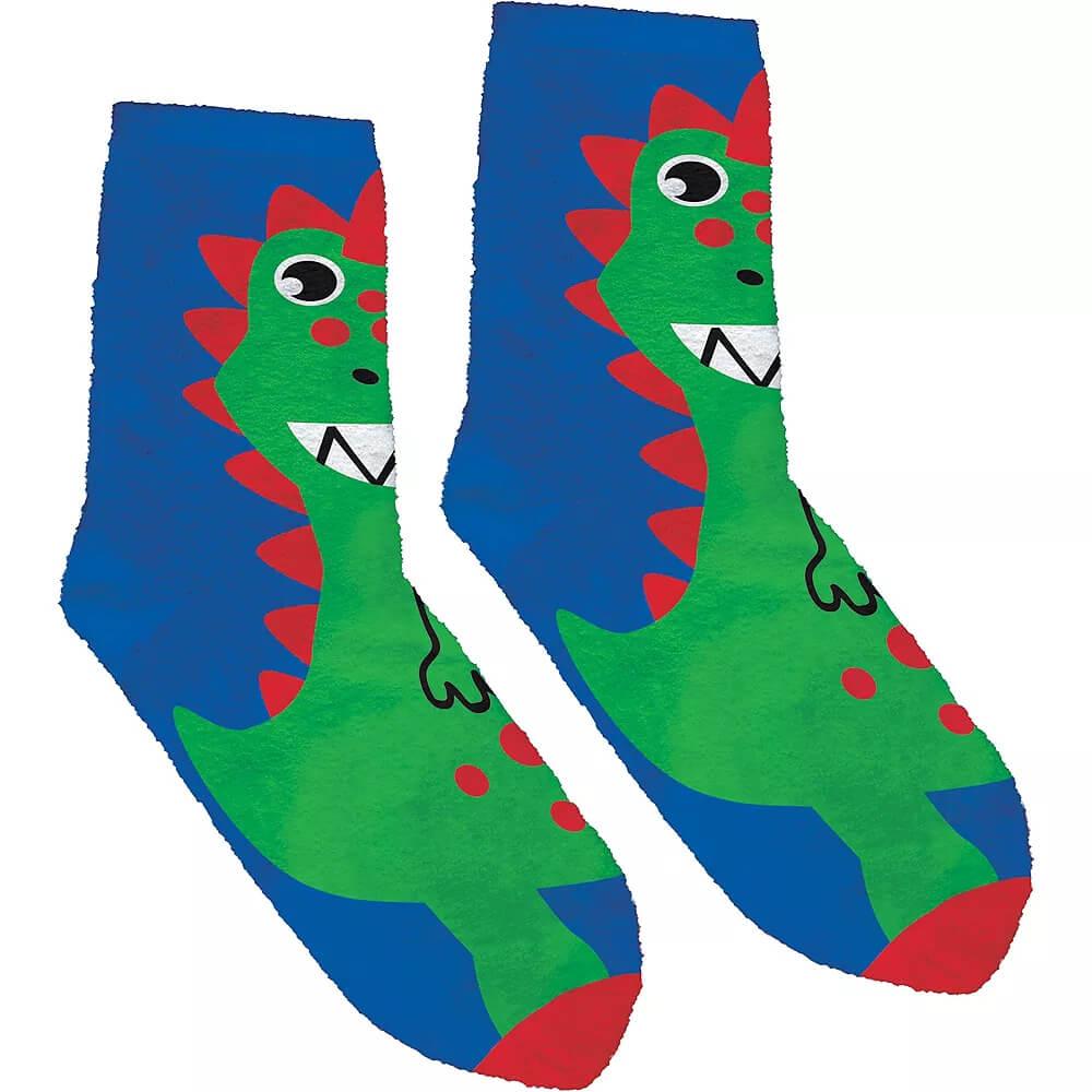 Adult-Fuzzy-Dinosaur-Crew-Socks