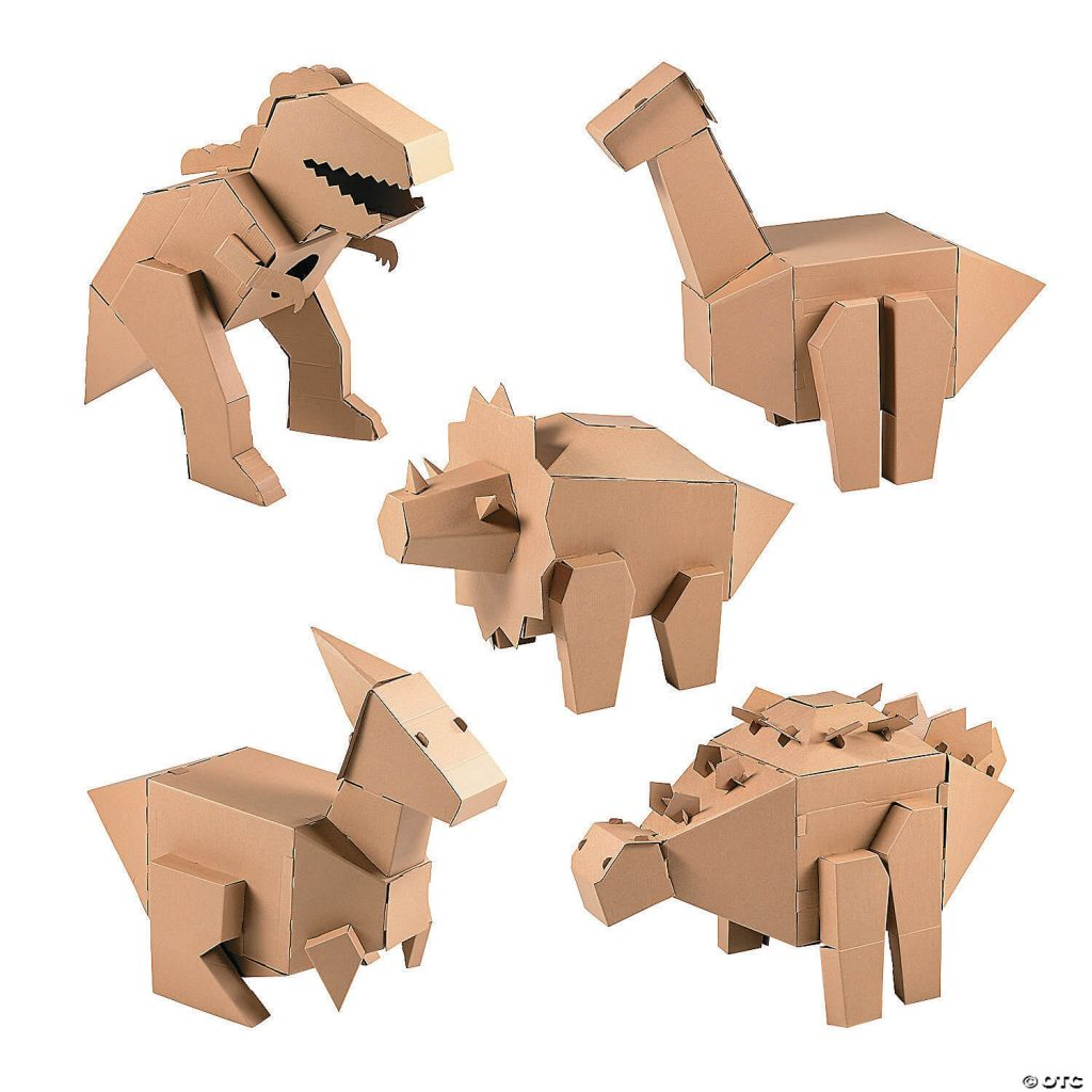 DIY-3D-Dinosaur-Cardboard-Stand-Up-Assortment