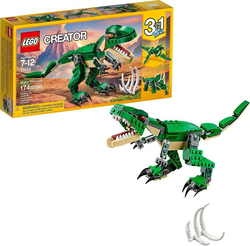 LEGO-Dinosaur-Set-Pterodactyl-Triceratops-and-T-Rex-Toy