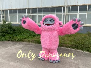 Pink Realistic Abominable Snowman Yeti Costume