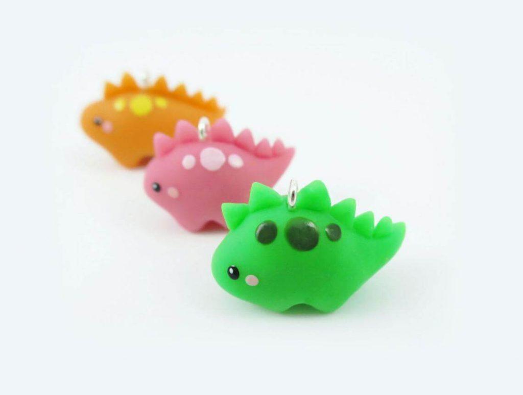 Polymer-Clay-Baby-stegosaurus-Dinosaur-Earrings
