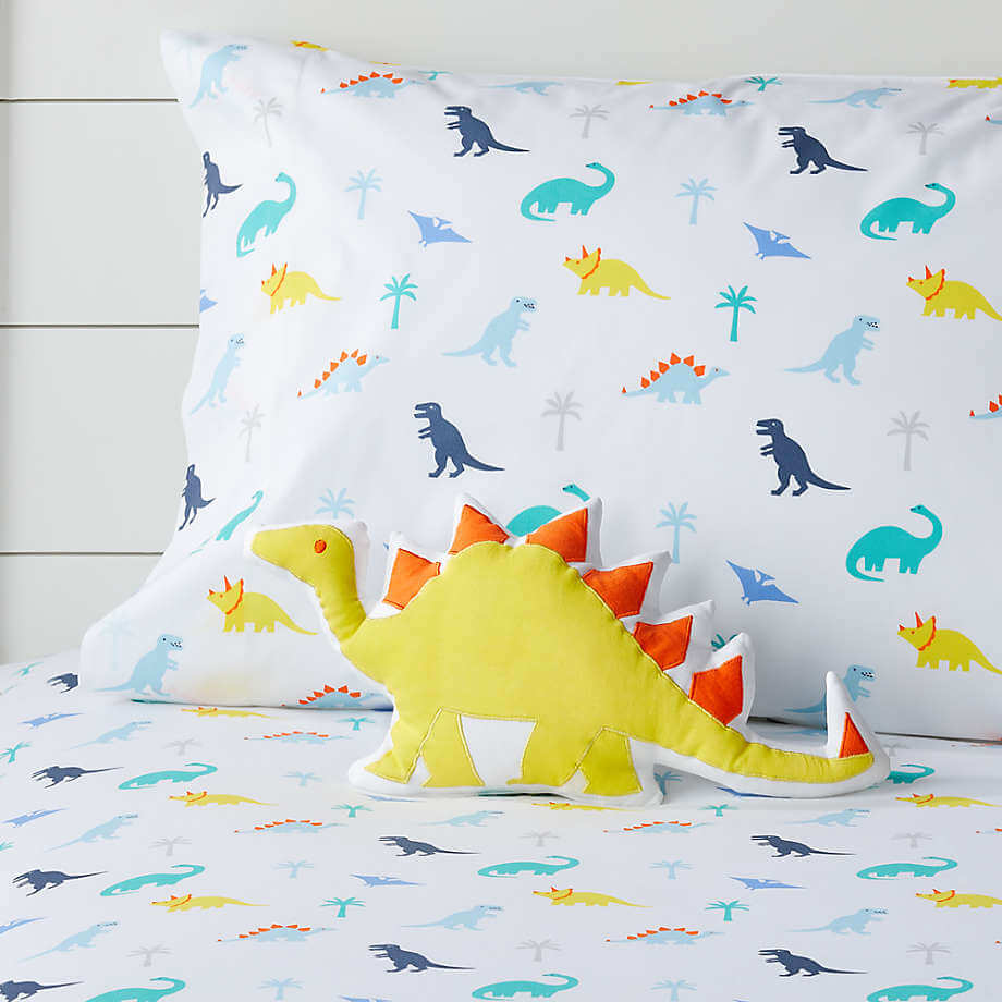 Prehistoric-Pals-Yellow-Dinosaur-Throw-Pillow