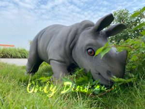 Realistic Rhinoceros Handheld Puppet