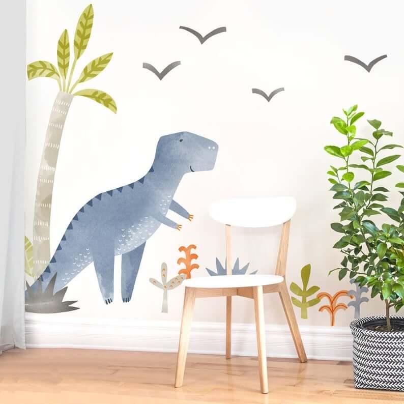 Theo-the-Dinosaur-Fabric-Wall-Decal