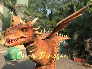 Vivid Halloween Walking Dragon Costume