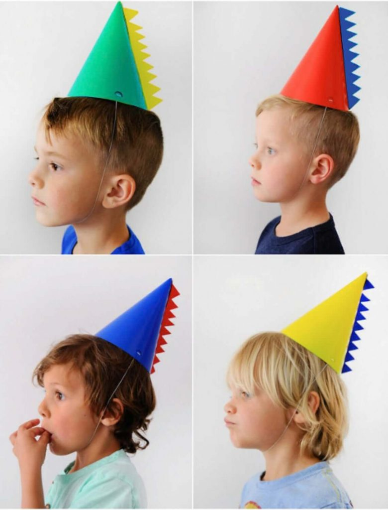 X4-Dinosaur-party-Hat