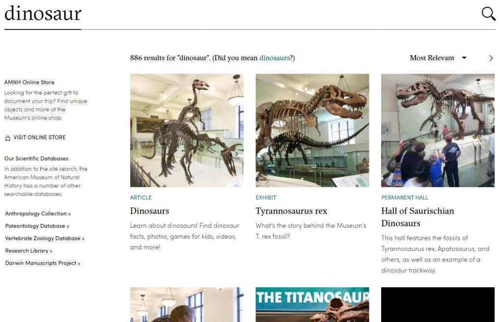 Authoritative Dinosaur Knowledge Websites american-museum-pic2