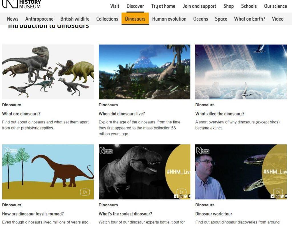 Authoritative Dinosaur Knowledge Websites natural-history-museum-pic1