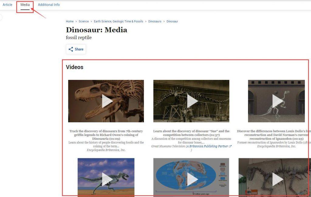 Authoritative Dinosaur Knowledge Websites britannica video pic2