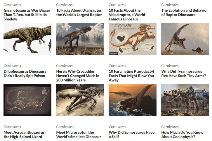 Authoritative Dinosaur Knowledge Websites thoughtco-pic3