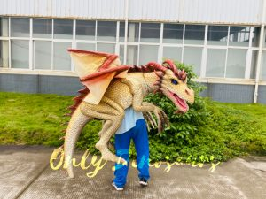 Kingly Golden Dragon Full Body Puppet