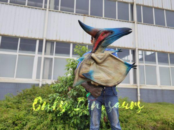 Lifelike-Blue-Handheld-Baby-Pterosaur