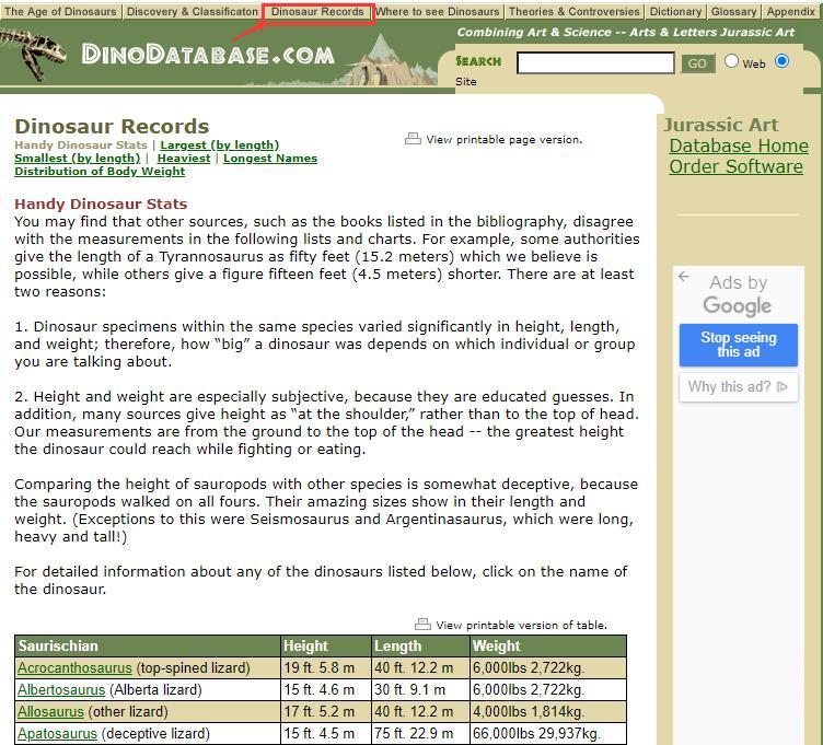 Authoritative Dinosaur Knowledge Websites dinodatabase-pic1-1