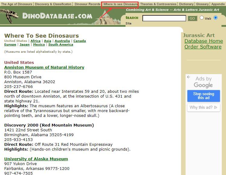 Authoritative Dinosaur Knowledge Websites dinodatabase-pic3