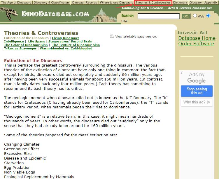 Authoritative Dinosaur Knowledge Websites dinodatabase-pic4