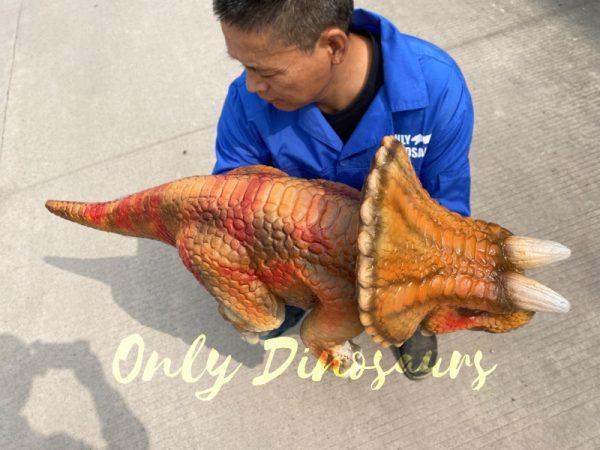 Lifelike-Orange-Triceratops-Baby-Dino-Puppet2