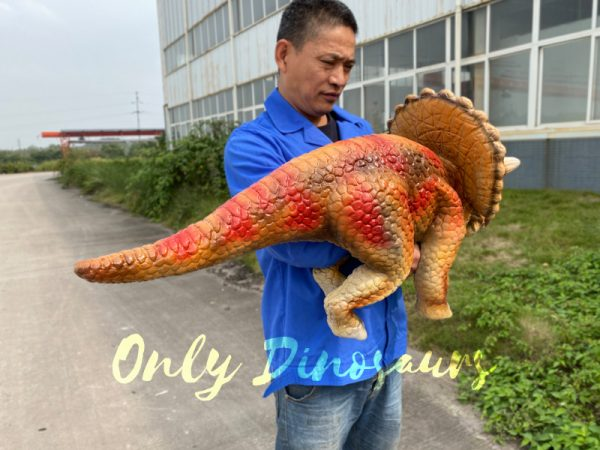 Lifelike-Orange-Triceratops-Baby-Dino-Puppet5