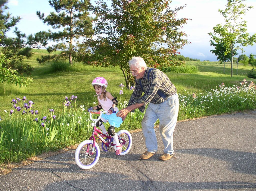 extrinsic motivation for children is caused by an external factor such as a grandfather teaching the kid how to ride a bike