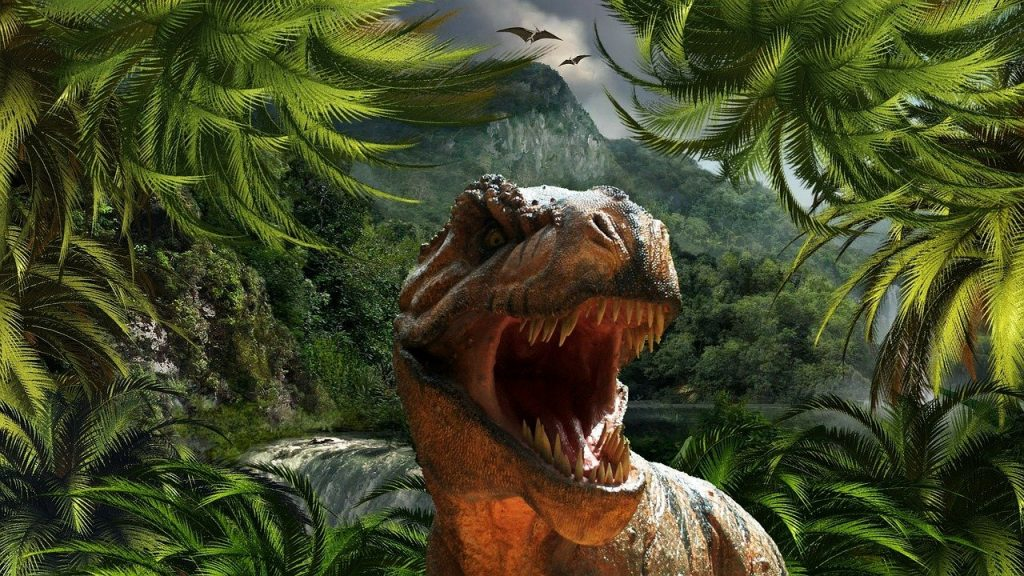 tyrannosaurus rex roaring - dinosaur movie for kids